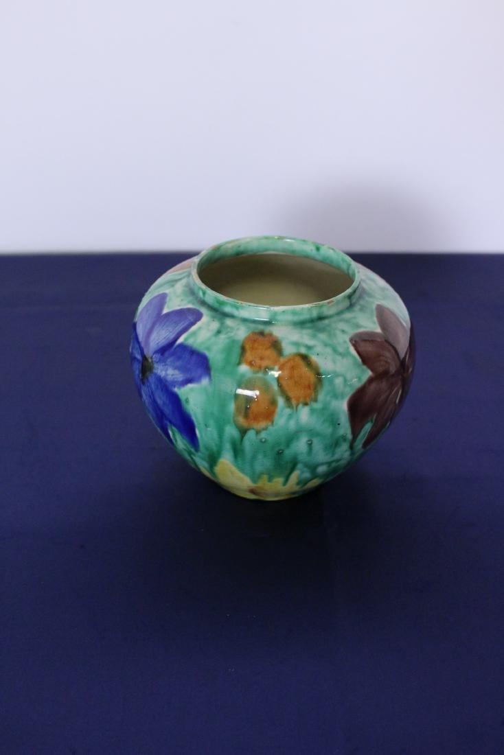 Painted Ceramic Pot Circa 1920