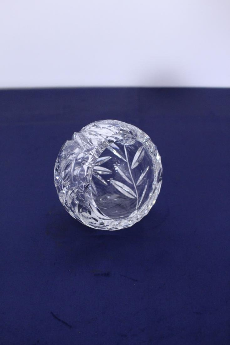 Unique Spherical Cut Crystal Candy Dish