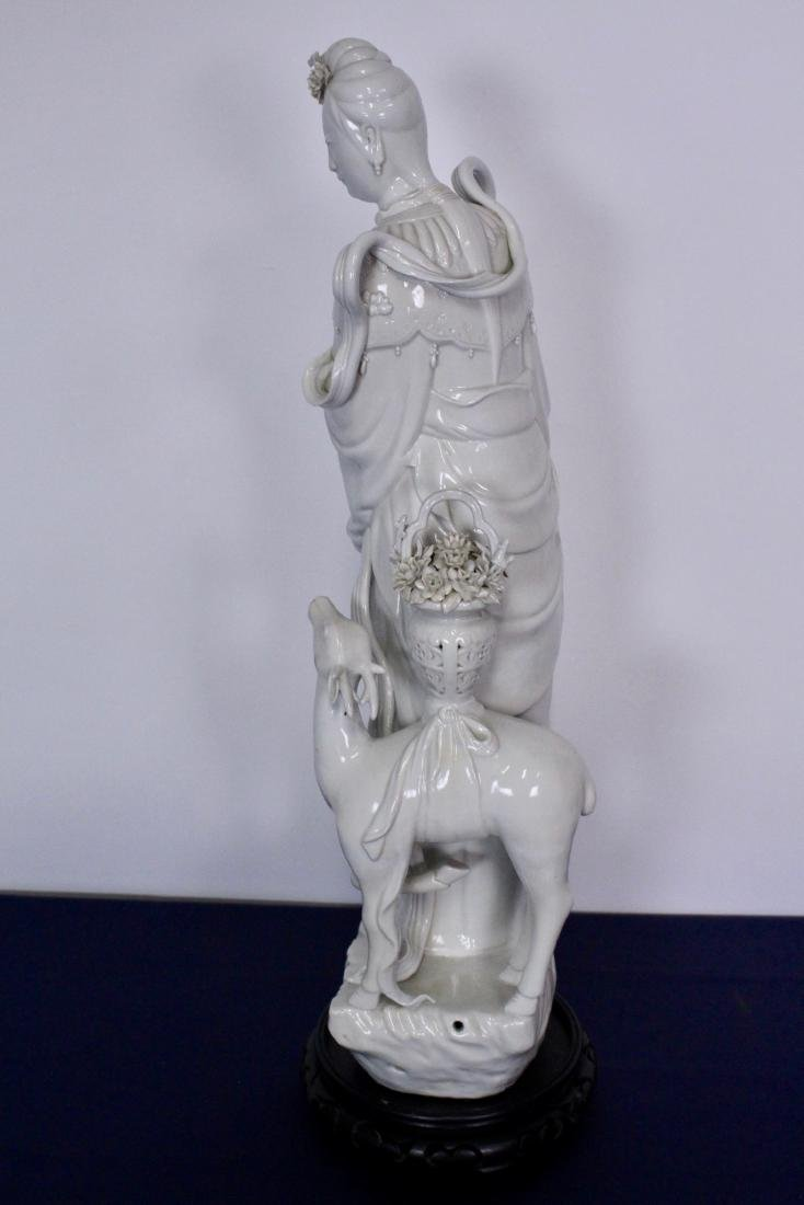 Early 20th Century Blanc de Chine Buddhist Statue - 7