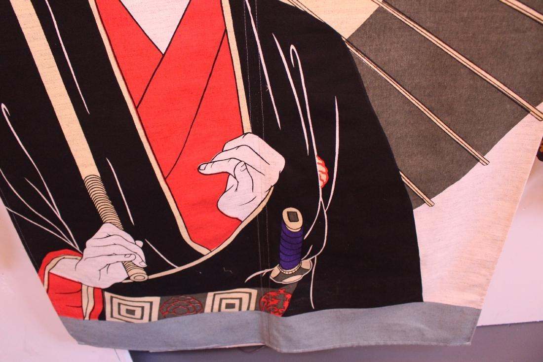 Large Japanese Tapestry of Kabuki Actor - 2