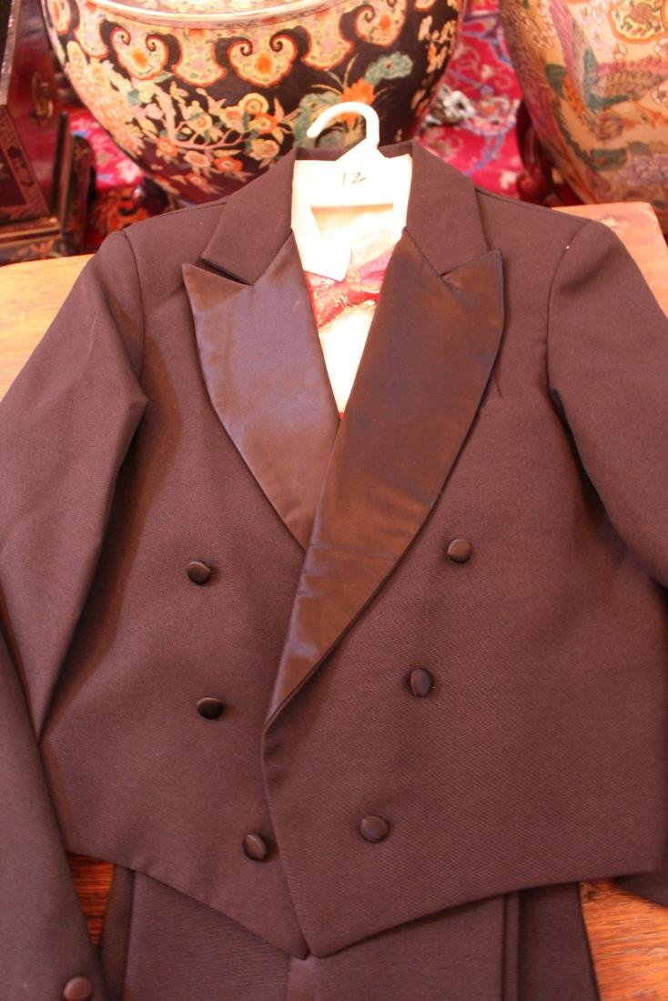 Burgundy Dress and Pair of Tuxedos - 5