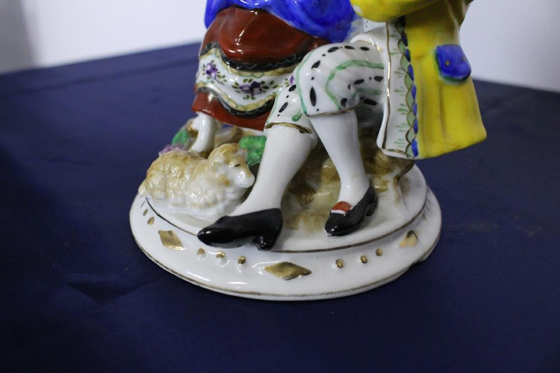 Large Very Fine Occupied Japan Porcelain Figure - 2