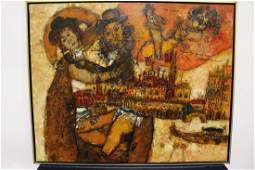 Theo Tobiasse Original Oil Painting