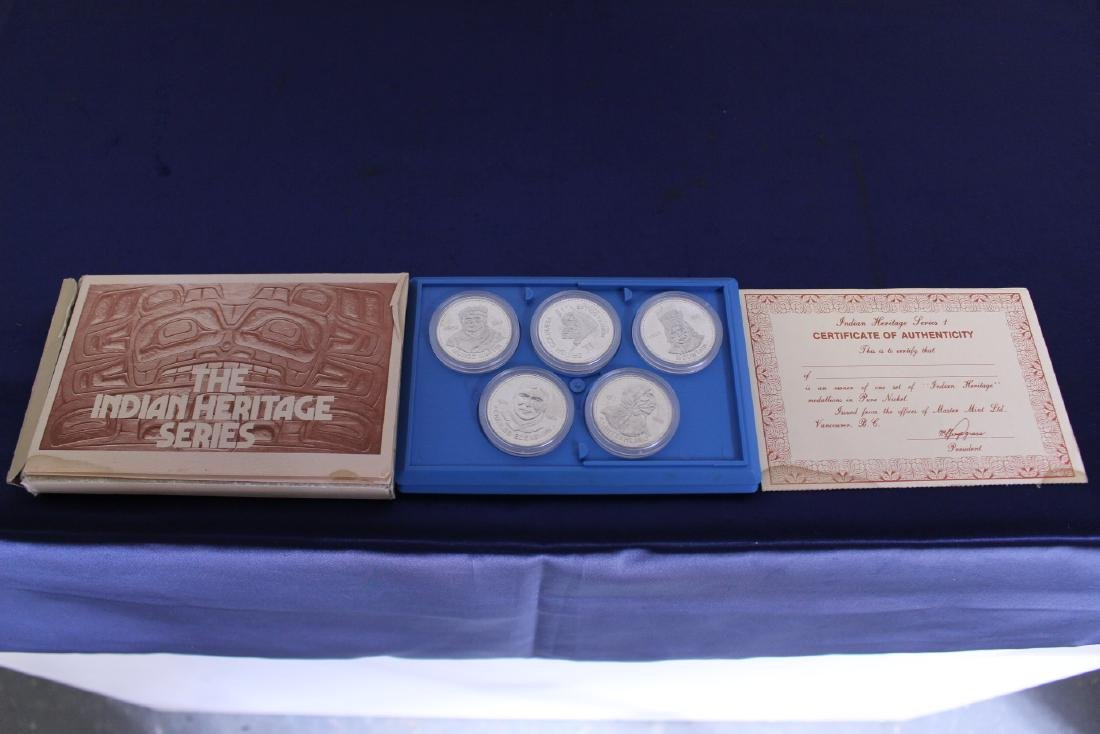 Set of 5 Indian Heritage Silver Coins with Certificate