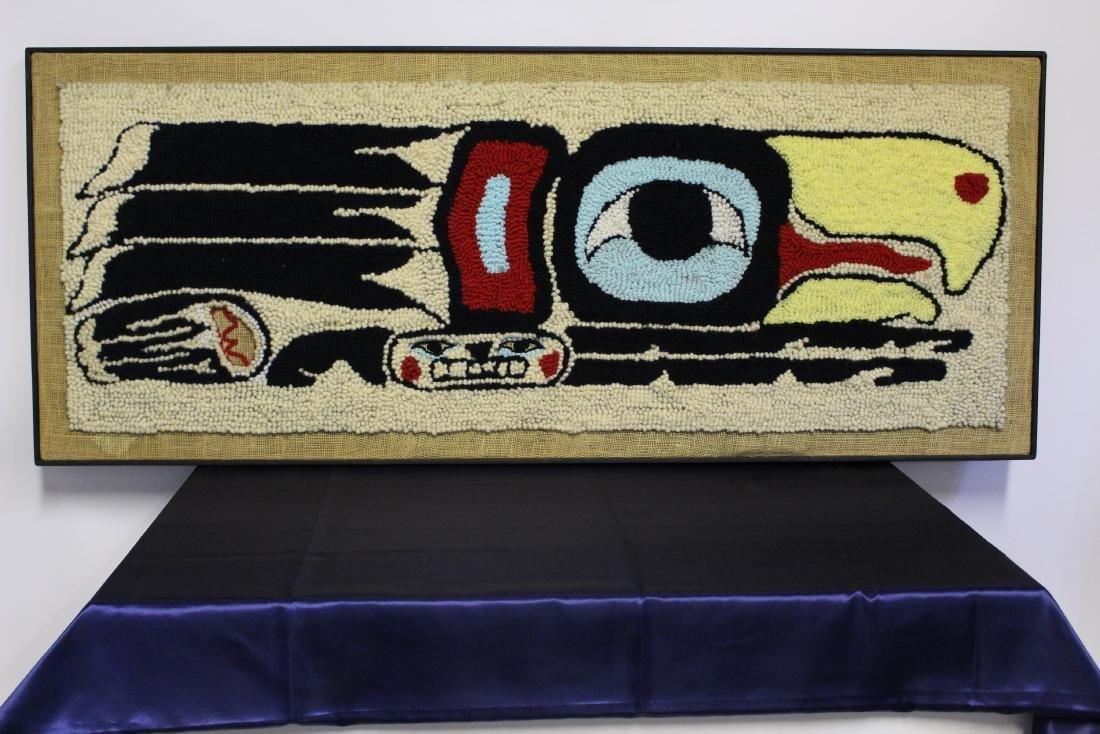 """Linda Wilson Framed Punch Rug """"Eagle Design"""""""