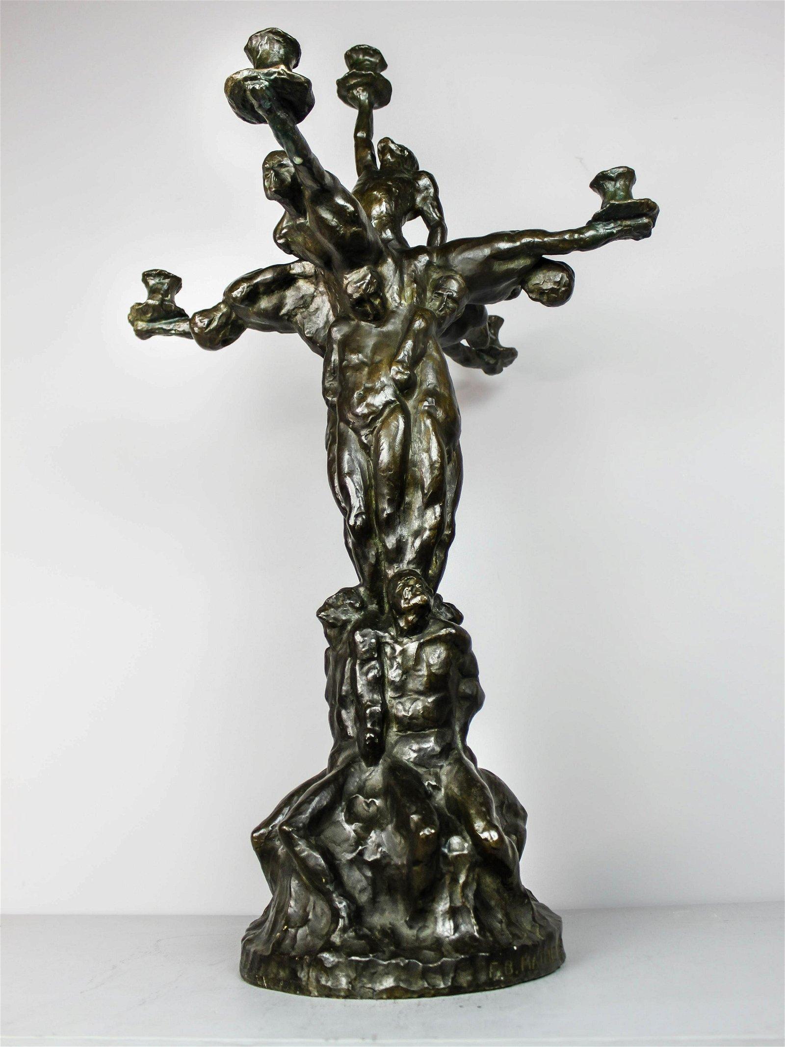 F.B. MATHEWS Important Bronze Candelabra