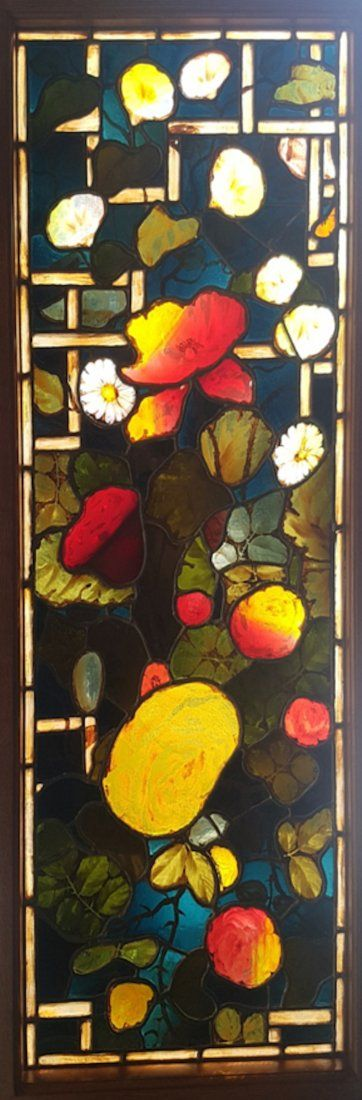 John La Farge Stained and Leaded Glass Window