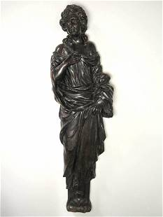 Ca 1875 SAMUEL ROBB Carved Female Figure