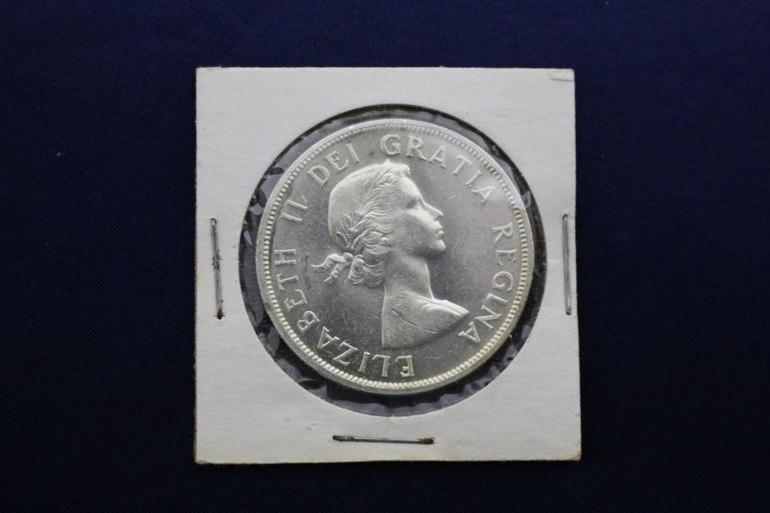 1958 Canadian Silver Dollar Brilliant Uncirculated