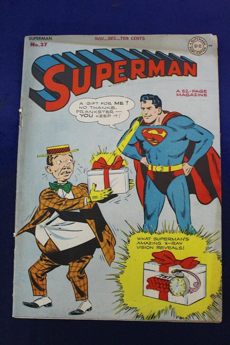 Superman Comic December 1945 Issue No 37