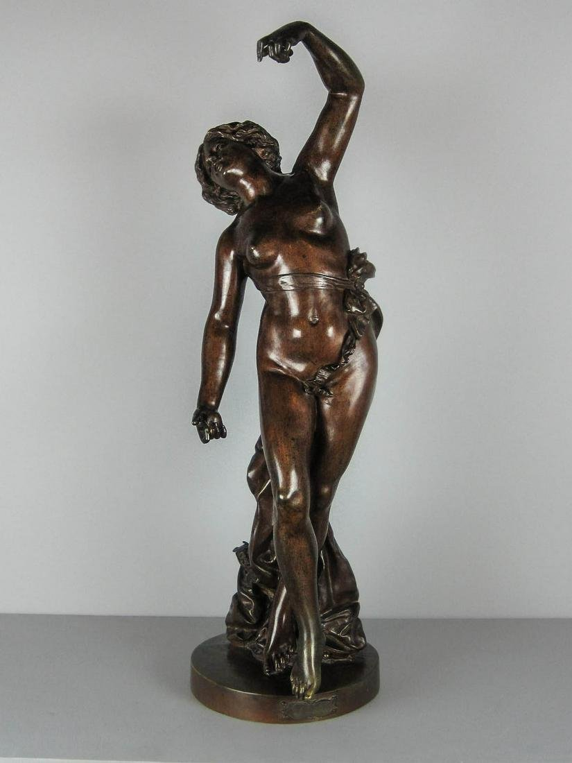 Large Laiccer Fundidor Bronze Statue of Woman Dancing