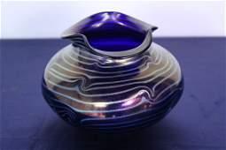 Victor Durand Signed Art Glass Bowl King Tut
