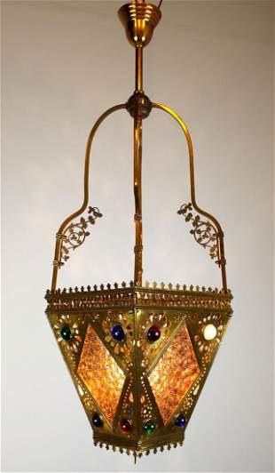 C. 1885 Rare Oversized Victorian Aesthetic Hall Lantern