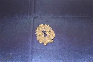 2 Antique Brass Keyholes c. 1930