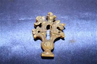 5 Antique Brass Keyholes C. 1900
