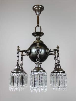 """Colonial """"Ball"""" Light Fixture (6 Light)"""