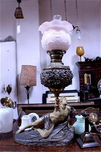 Greek Globe Table Lamp with Shade