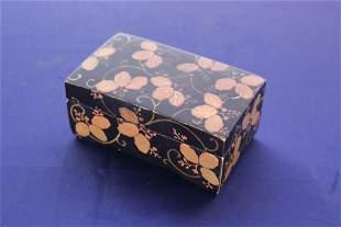 Black Lacquer Gold Decorated Box