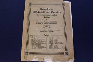 German Architecture Floor plans from 1904