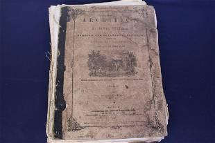 Antique Book The Architect Vol 1 by William H. Ranlett
