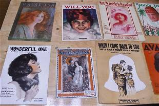 Set of 44 Historic Sheet Music Collection from 1910s