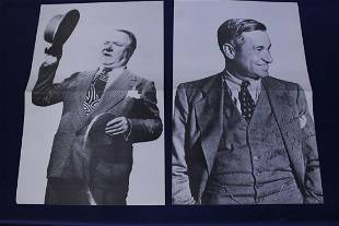 Set of 4 Black and White Poster of Vaudeville Actors
