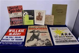 Set of 8 Vintage Posters, Menu and Booklets
