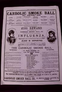 Carbolic Smoke Ball Advertisement Print