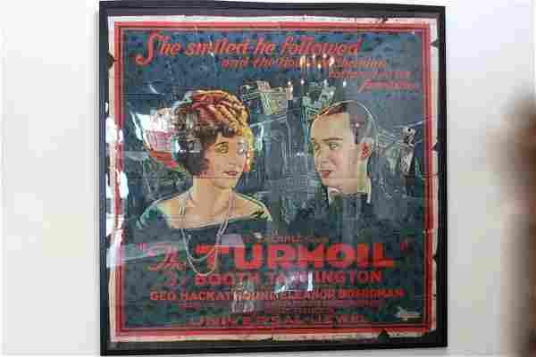 "Rare 6 Sheet Broadside ""The Turmoil"" Silent Movie"