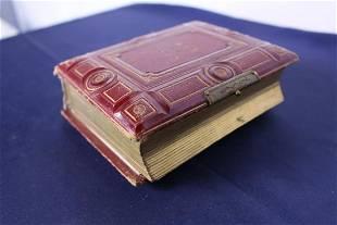 Antique Hardcover Photo Album Circa 1886