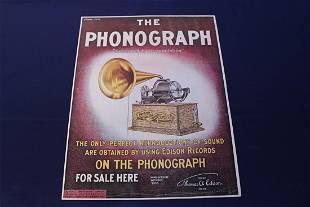 Vintage Phonograph Advertising Poster