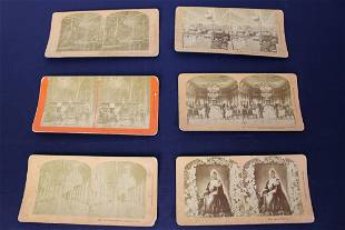Set of 6 Original Stereographs by B.W. Kilburn