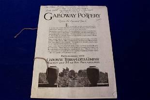 Galloway Pottery Catalogue 1920