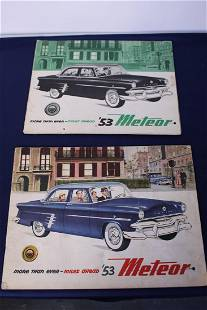 1953 Canadian Meteor French Car Ad Poster and Catalogue
