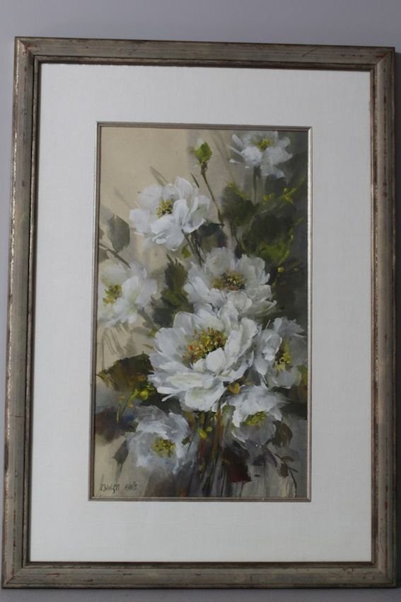 White Bouquet Still Life by Alan Robert Chiara