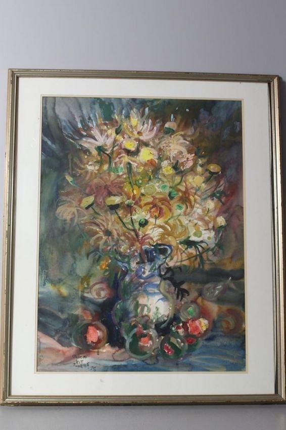 Flowers in Vase by Gordon Kit Thorne