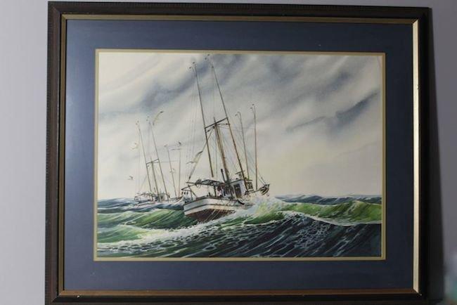 Nautical Scene by Heine