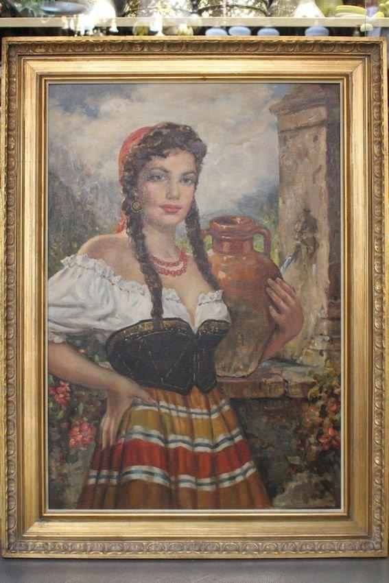 Italian Painting of a Feminine Beauty