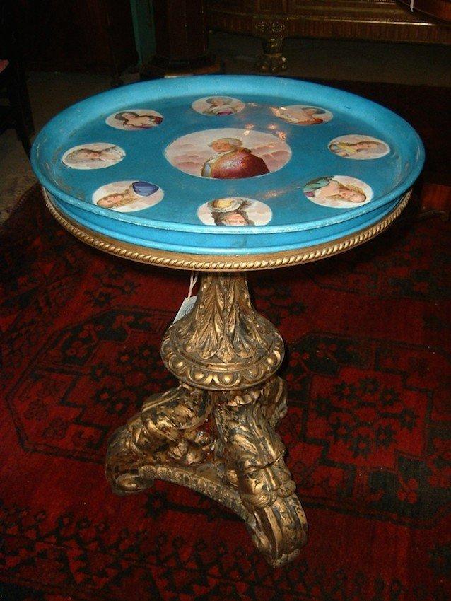 """""""Sevres"""" Figural Pedestal Table"""