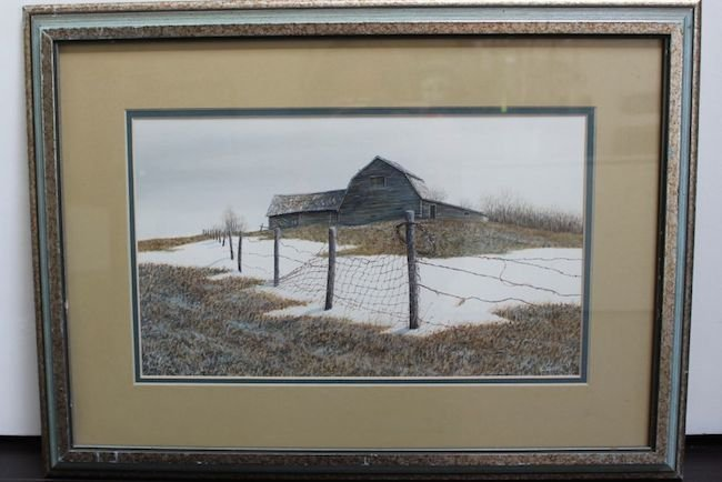 Wire and Snow by Len Gibbs