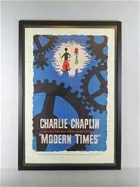 "Charlie Chaplin ""Modern Times"" Poster"