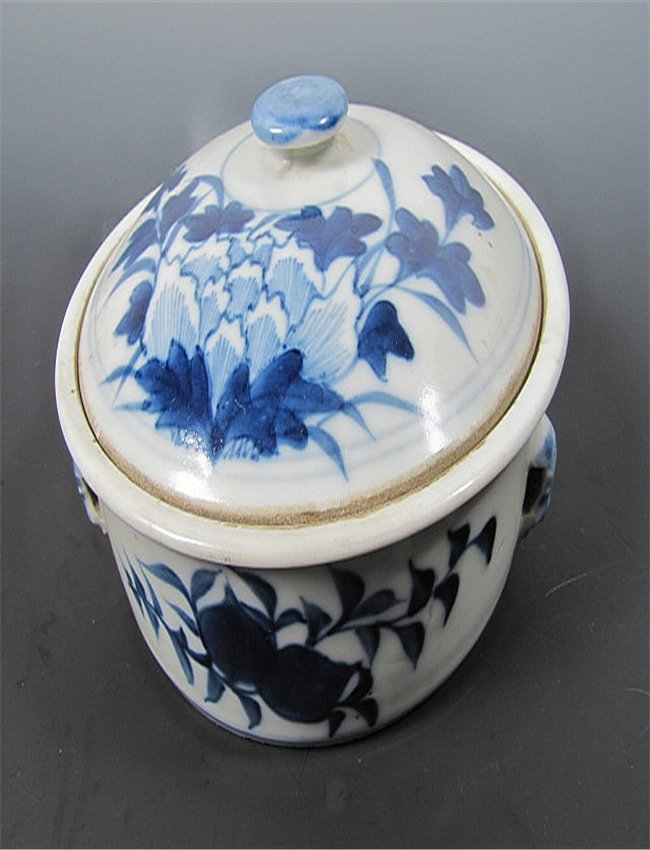 CHINESE BLUE AND WHITE BOWAL WITH COVER