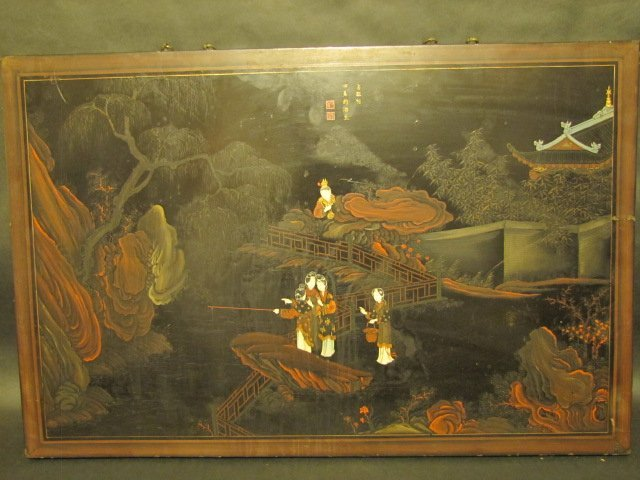 CHINESE LACQUER PAINTING