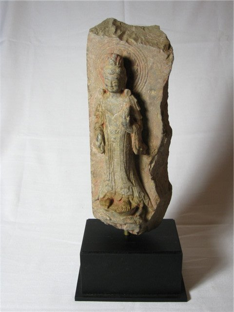 A Six Dynasties Stone Carving Figure of Buddha