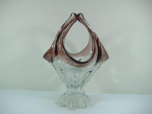 Ann Primrose Murano Collection Amethyst Basket