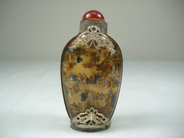 Vintage Filigree Reverse Hand Painted Snuff Bottle
