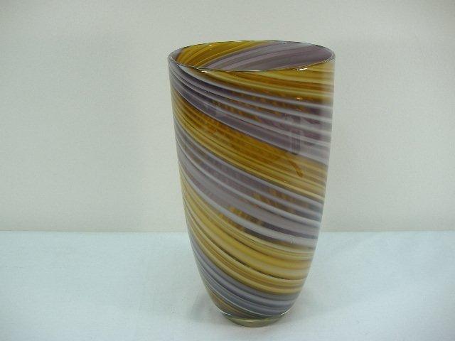 Ann Primrose Murano Collection Amethyst/Beige Vase