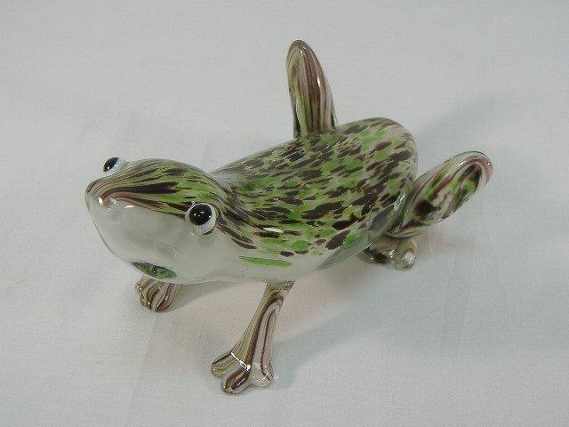 Ann Primrose Murano Collection Frog Sculpture