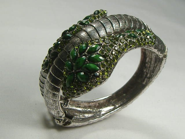 Swarovski Crystal Snake Bangle