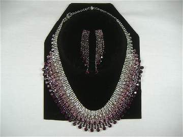 Vintage Swarovski Crystal Necklace & Earring Set